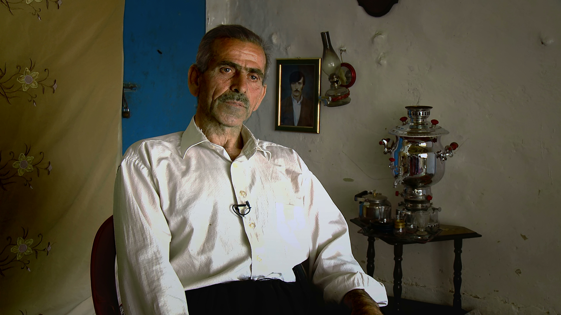 Escaping the gas attack on Haladin in 1988, OMAR ABDULLAH SAID and his family reached an Iranian refugee camp but even there Iraqi planes bombed them with chemical weapons. His son died and his wife was badly affected by the gas but survived.