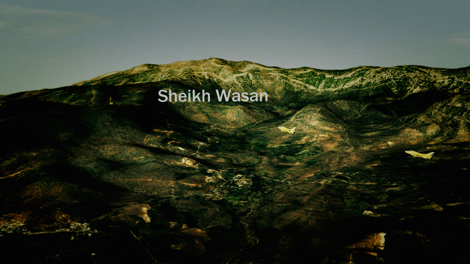 In this animation Iraqi jets drop chemical bombs on the villages of Sheikh Wasan in the Balisan valley, to the northeast of Erbil. The attack took place in the evening of 16 April 1987 as villagers returned home from the fields. The Iraqis bombed the village at supper time to maximise casualties.