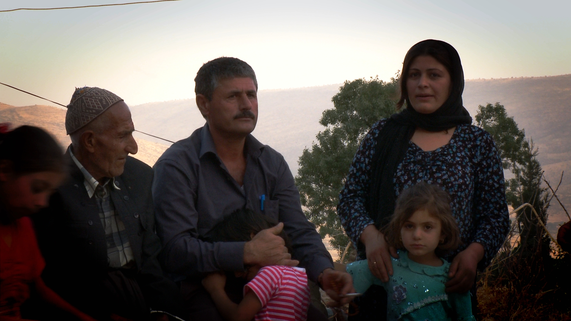 When Sheikh Wasan village was attacked by the Iraqi army, NAJIBA KHADIR AHMED escaped to the mountains with her children. Blinded by poison gas, she was led to safety by her sister-in-law. Her peshmerga husband, MUSTAFA RASUL HAMA AMIN, returned to find the village littered with the carcasses of dogs and cats.