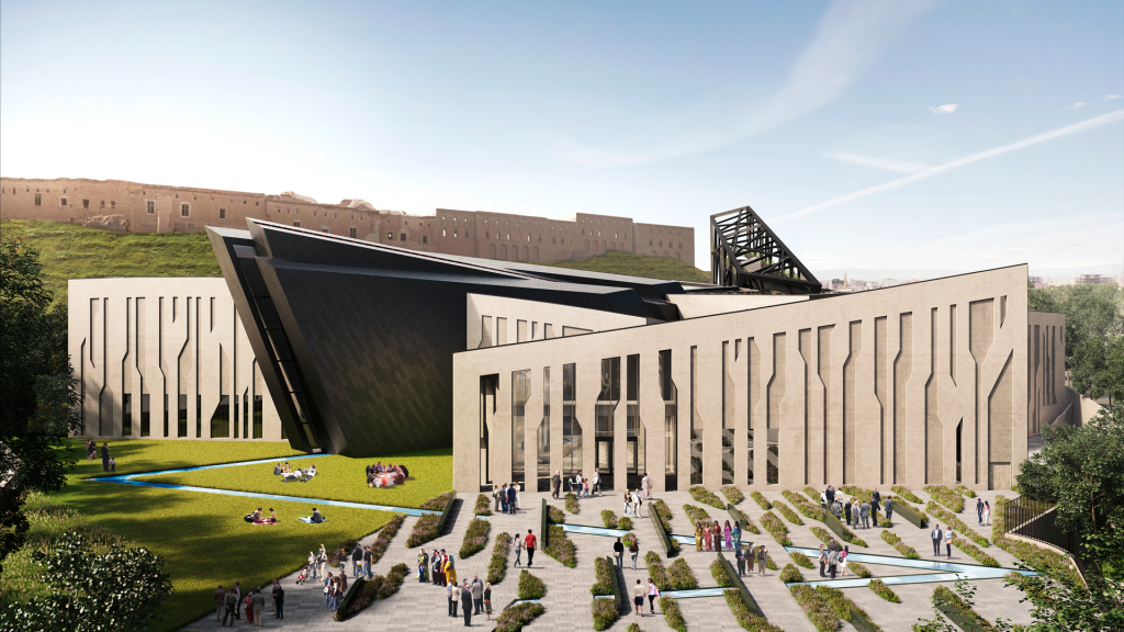 This new national landmark will feature exhibition spaces for both permanent and temporary exhibitions, a lecture theatre, state-of-the-art multimedia educational resources, and an extensive digital archive of Kurdish historical assets.