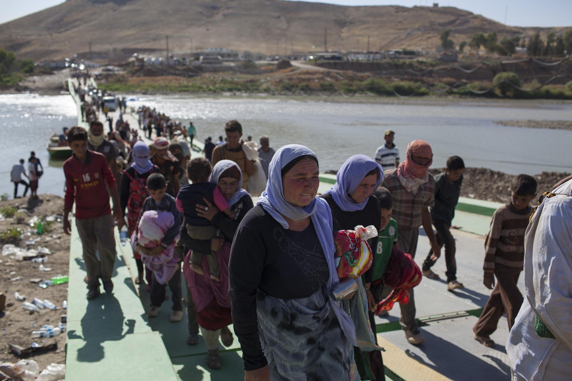 YAZIDI REFUGEES FLEE ISIS